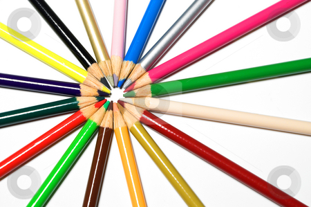 Colored Pencils stock photo, An assortment of colored pencils. A favorite of children everywhere. by Robert Byron