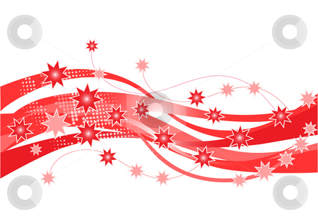 Star border design stock photo, Red stars design with white background by Juliet Photography