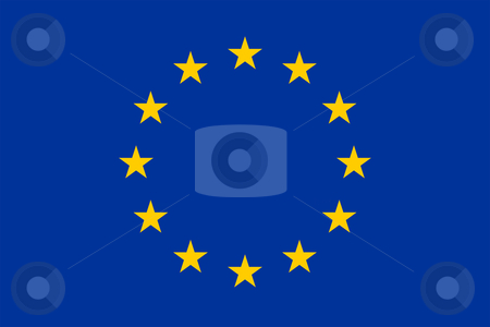 European flag stock vector clipart, The official european union flag by Tilo