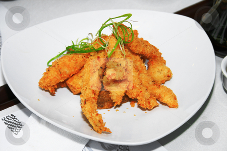 Fish fillet stock photo, Deep fried fish fillet served in a dish by Jonas Marcos San Luis