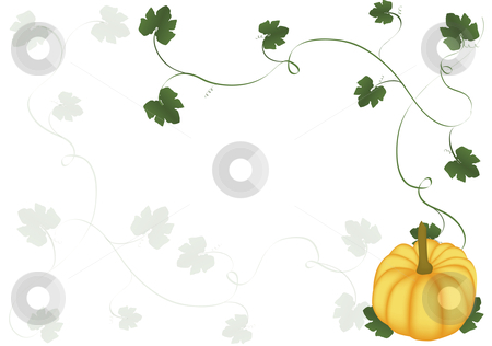 Pumpkin background stock vector clipart, Pumpkin holiday background on white by John Teeter