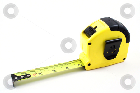 Tape Measure stock photo, A standard carpenter's tape measure ready for a job. by Robert Byron