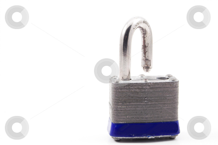 Padlock stock photo, A padlock ready to secure an object. by Robert Byron