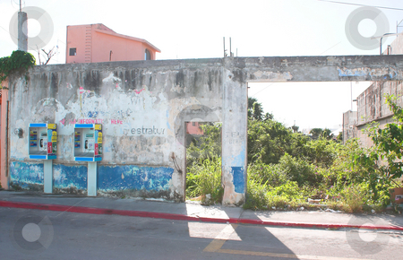 Mexican Slum stock photo, A slum area located in Cozumel, Mexico. by Robert Byron