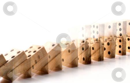 Dominos stock photo, The tradition children's game of dominos. by Robert Byron