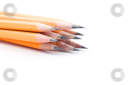 Pencils stock photo, A bunch of pencils in a holder. by Robert Byron