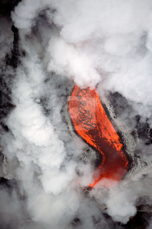 MPIXIS250320 stock photo, Molten lava and steam by Mpixis World