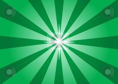 Green Star Light Illustration stock vector clipart, Green Star Light Illustration by John Teeter