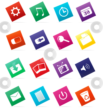 Computer Web Icons stock vector clipart, Icons for computer, web, desktop, etc by Stephanie Soon