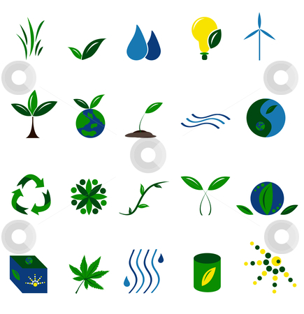 Environment Icons stock vector clipart, Icon illustration of Environment Symbols by Stephanie Soon