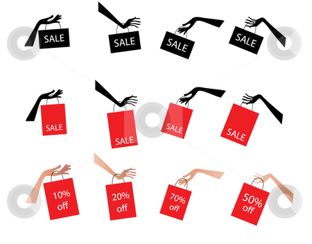 Sale Tags stock vector clipart, Sale tags and labels for retail by Stephanie Soon