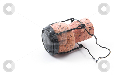 Champagne Cork stock photo, A cork pulled from a champagne bottle during a celebration. by Robert Byron
