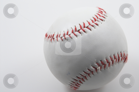 Baseball stock photo, A lone baseball ready for sports action. by Robert Byron