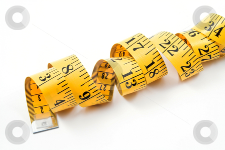 Tailor's Measuring Tape stock photo, A tailor's measuring tape coiled up randomly. by Robert Byron