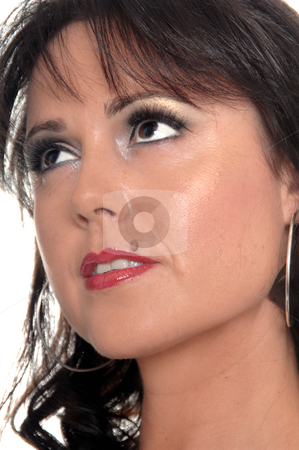 Hispanic woman headshot stock photo, Close-up of a sexy young woman by Robert Deal