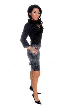 High Fashion Businesswoman stock photo, Beautiful young Latina business executive by Robert Deal