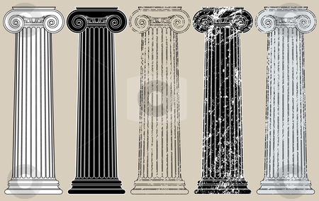 Five Columns stock vector clipart, Five Columns, clean and grungy, for anything you may need to support by Adrian Sawvel