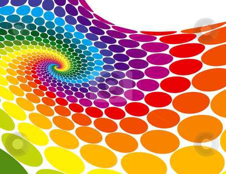 Rainbow Spiral Wave stock vector clipart, Rainbow Spiral Wave by Adrian Sawvel