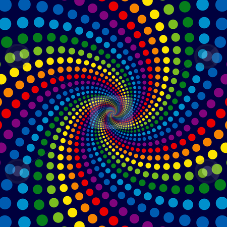 Rainbow Swirl stock vector clipart, Rainbow Swirl by Adrian Sawvel
