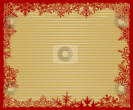 Red and Gold Striped Snowflake Background stock vector clipart, Red and Gold Striped Snowflake Background by Adrian Sawvel