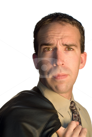 Businessman stock photo, Portrait of a young businessman, isolated on a white background by Richard Nelson
