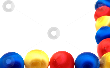 Christmas Border stock photo, A christmas border made with colored ornament balls by Richard Nelson