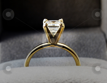 Diamond ring stock photo, Diamond engagement ring by Anita Peppers