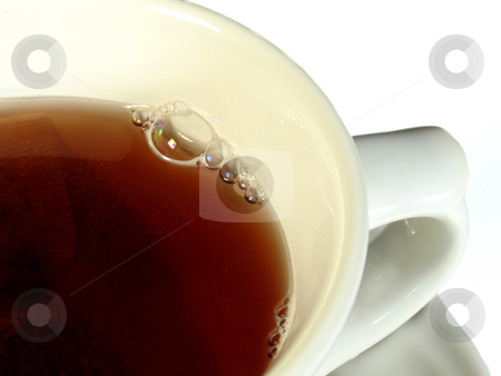 Tea stock photo, Cup of hot tea isolated on white by Anita Peppers