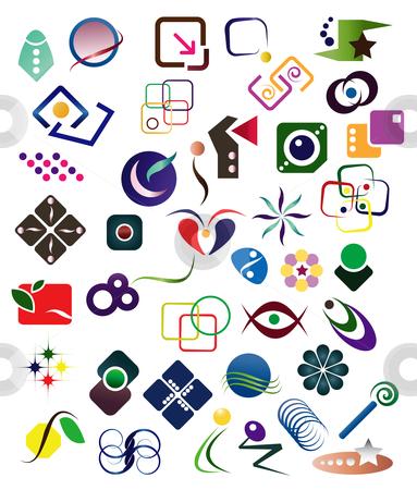 40 Design Elements stock vector clipart, Design Elements Set by Stephanie Soon