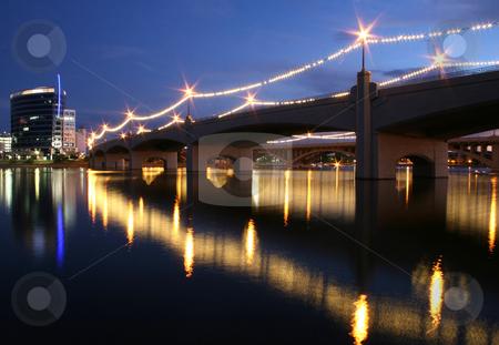 Mill Avenue Bridge, Tempe, AZ stock photo, The Mill Avenue Bridge crosses Tempe Town Lake in Tempe, Ariz. by MIca Mulloy