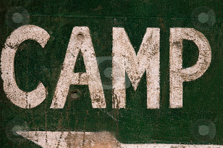 MPIXIS260044 stock photo, Sign showing direction to camp site by Mpixis World