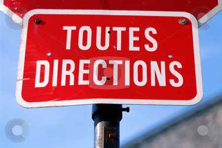 MPIXIS260043 stock photo, French road sign all directions by Mpixis World