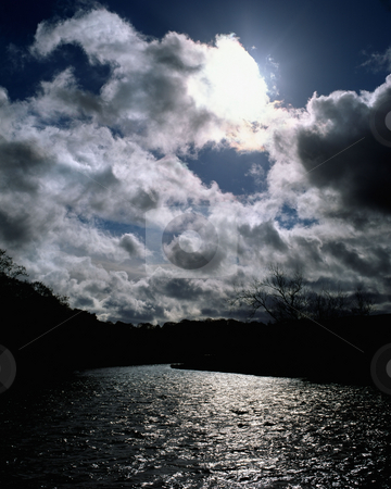 MPIXIS250516 stock photo, Cloudy sky over lake by Mpixis World