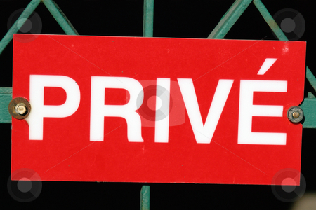 MPIXIS260034 stock photo, No entry sign in French by Mpixis World