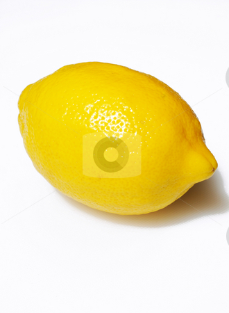 Single Yellow Lemon stock photo, Yellow Lemon on a light background. by Lynn Bendickson