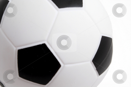 Soccer Ball stock photo, A soccer ball ready for play on a field. by Robert Byron