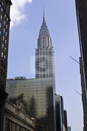 Chrysler Building stock photo, A view of the Chrysler Building from Bryant Park by Seph Daradar