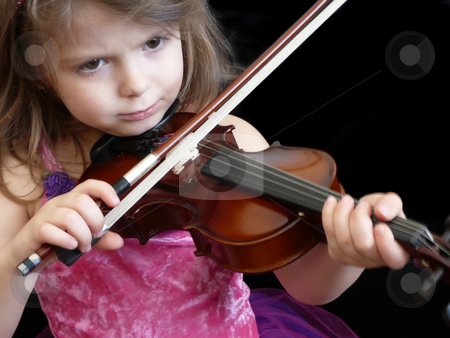 Playing Violin stock photo,  by Corinna Walby