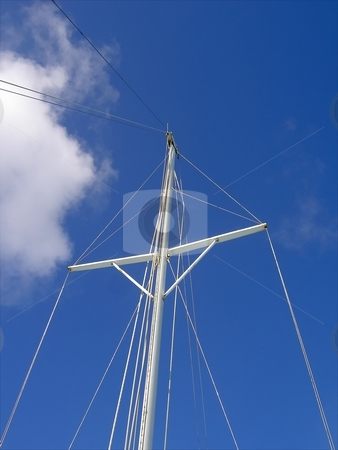Waiting stock photo, Pictute of a mast. by Keimpe Roedema