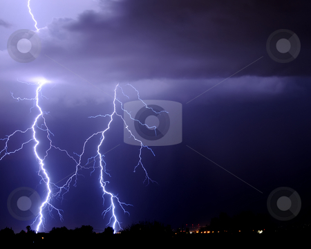 Tucson Lightning stock photo, Tucson Lightning by Richard Valdez