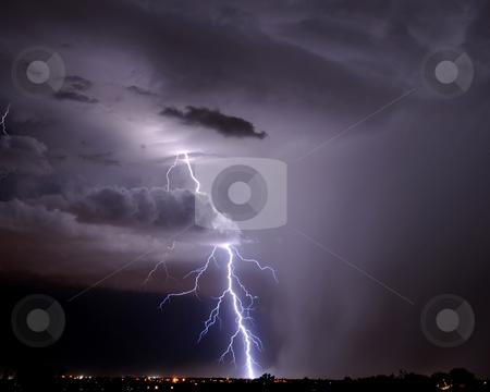 Tucson Lightning stock photo, Tucson Lightning by Richard Valdez