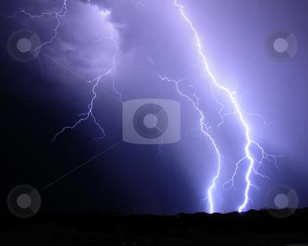 Desert Lightning stock photo, Desert Lightning by Richard Valdez