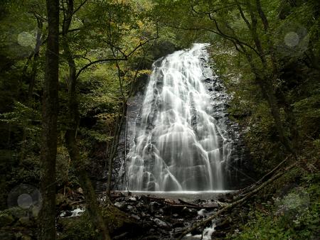 Crabtree Falls stock photo, Crabtree Falls, North Carolina by Richard Valdez