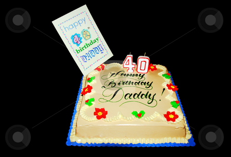 Life begins at forty stock photo, Birthday cake for daddy's 40th birthday celebration by Jonas Marcos San Luis