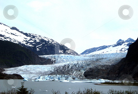 Alaska Glacier stock photo, Glacier landscape by Joseph Ligori