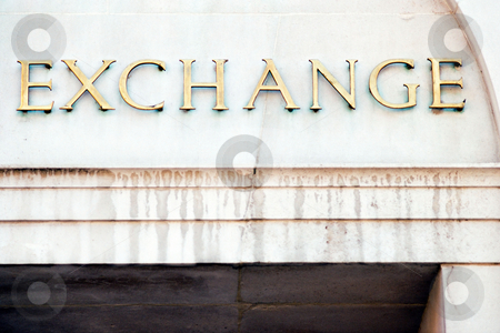 MPIXIS260081 stock photo, The word exchange on a building by Mpixis World