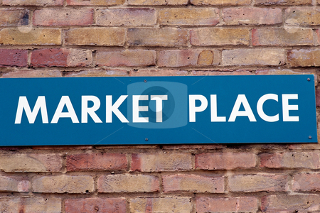 MPIXIS260078 stock photo, Sign for market place by Mpixis World