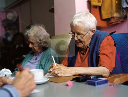 MPIXIS627006 stock photo, Senior women playing bingo by Mpixis World