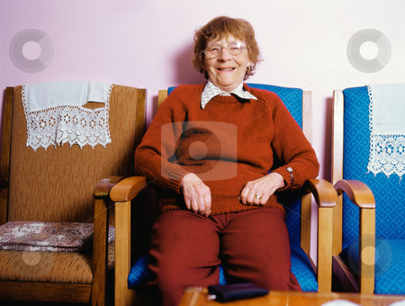 MPIXIS627026 stock photo, Senior woman in red by Mpixis World