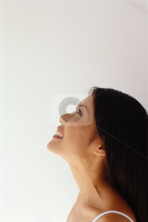 MPIXIS599053 stock photo, Profile of a smiling woman by Mpixis World